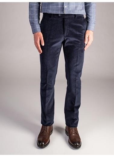 Dufy Sıyah Kadıfe Erkek Pantolon - Regular Fıt Lacivert